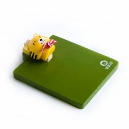 Happy Yellow Cat - Refrigerator Magnet clip / Magnetic Clipboard