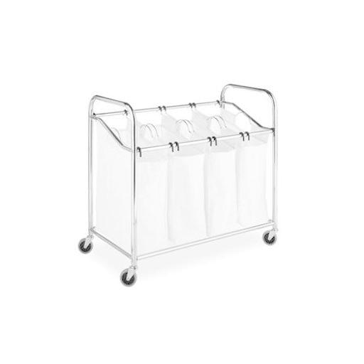 Whitmor 6097-3529-Bb Laundry Sorter 4 Section Chrom