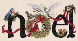 """Noel Counted Cross Stitch Kit 14.25""""X7"""" 14 Count"""