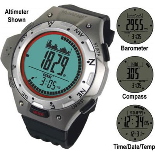 Digital Altimeter Watch with Compass