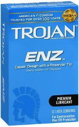 Trojan Enz Premium Lubricant Latex Condoms - 12 ct CH93752