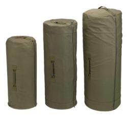 Olive Side Zipper Canvas Duffle Bags