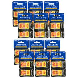 Bazic (12 pk) 1in yellow sign here flags
