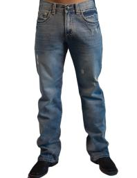 B. Tuff Western Denim Jeans Mens Bootcut Ripped Light Wash MRIPPD