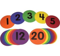 Bright Colored Number Markers-Rainbow Set