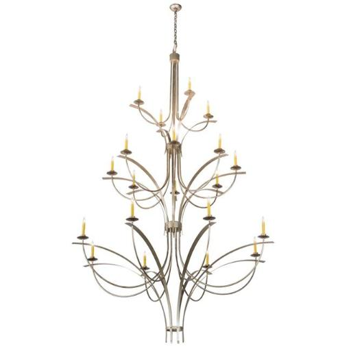 2nd Ave Lighting 202413-32 280 x 74 in. Corfe Chandelier, Champagne Toast - 20 Bulbs