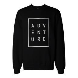 Adventure Graphic Print Sweatshirt Back To School Unisex Sweat Shirt