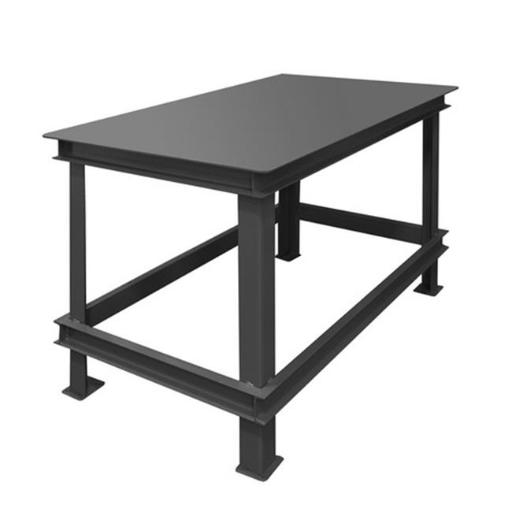 Durham HWBMT-364834-95 48 x 36 x 34 in. Steel Extra Heavy Duty Machine Table with 1 Shelves, Gray