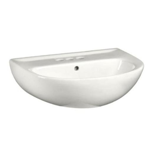 American Standard 0467004.020 Evolution 22 in. Pedestal Lavatory Sink With 4 in. Centers Faucet Holes - White