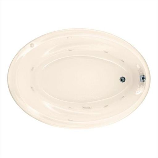 American Standard 2903.018WC.222 Savona Oval 5 ft. Whirlpool Tub with Reversible Drain in Linen