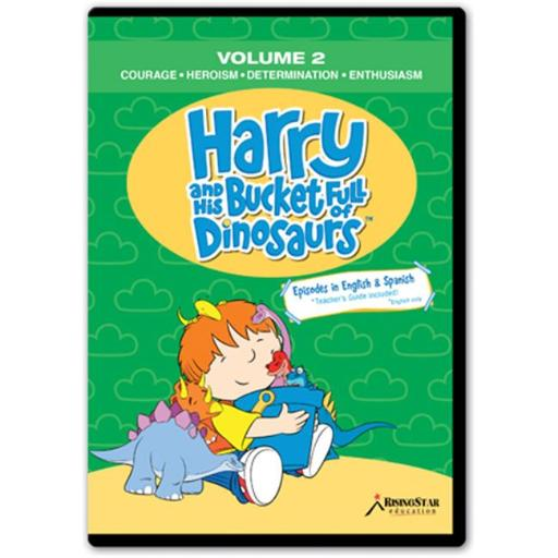 Rising Star Education HBD002 Harry & His Bucket Full of Dinosaurs- Vol. 2 - Courage- Heroism- Determination- Enthusiasm- DVD
