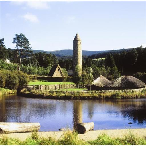 Posterazzi DPI1825640LARGE Ulster History Park Omagh County Tyrone Ireland - Crannog & Early Monastery Poster Print by The Irish Image Collection, 24