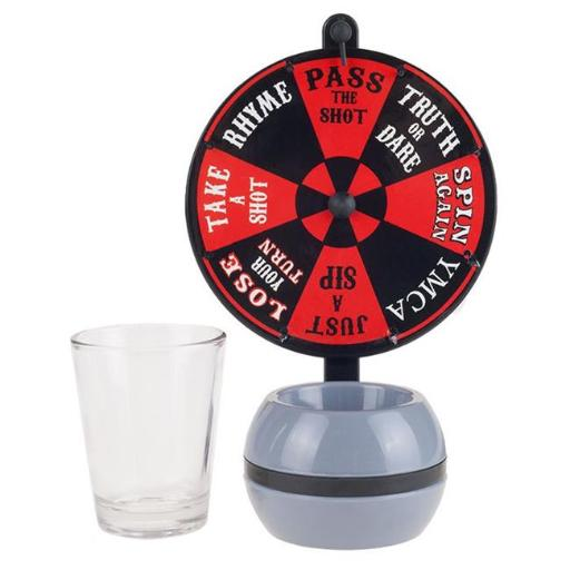 Hey Play M350006 Spin-the-Wheel Shot Glass Drinking Game