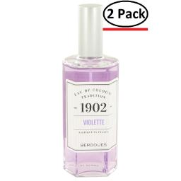 1902 Violette by Berdoues Eau De Cologne 4.2 oz for Women (Package of 2)