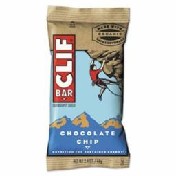 Clif Bar & Company 160004 Energy Bar, Chocolate Chip, 2.4oz, 12/Box