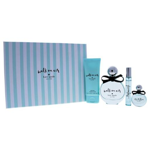 Kate Spade Walk On Air By Kate Spade For Women - 4 Pc Gift Set 3.4Oz Edp Spray, 0.34Oz Edp Spray, 0.25Oz Edp Splash, 3.4