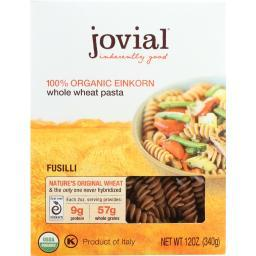 Jovial Pasta - Organic - Whole Grain Einkorn - Fusilli - 12 oz - case of 12