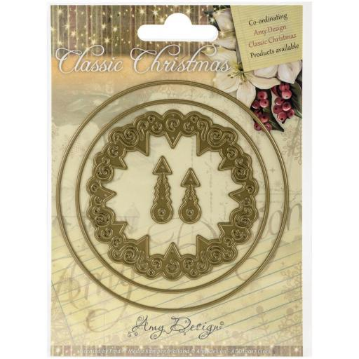 Find It Trading Amy Design Classic Christmas Die Clock