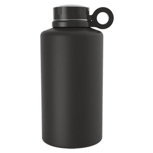 Core Home 230852 64 oz Ring Growler Double Wall Vacuum Insulated Stainless Steel Bottle - Onyx