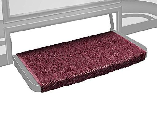 Prest-O-Fit 2-1074 Wraparound + Plus Step Rug (20In Wide) - Burgundy Wine