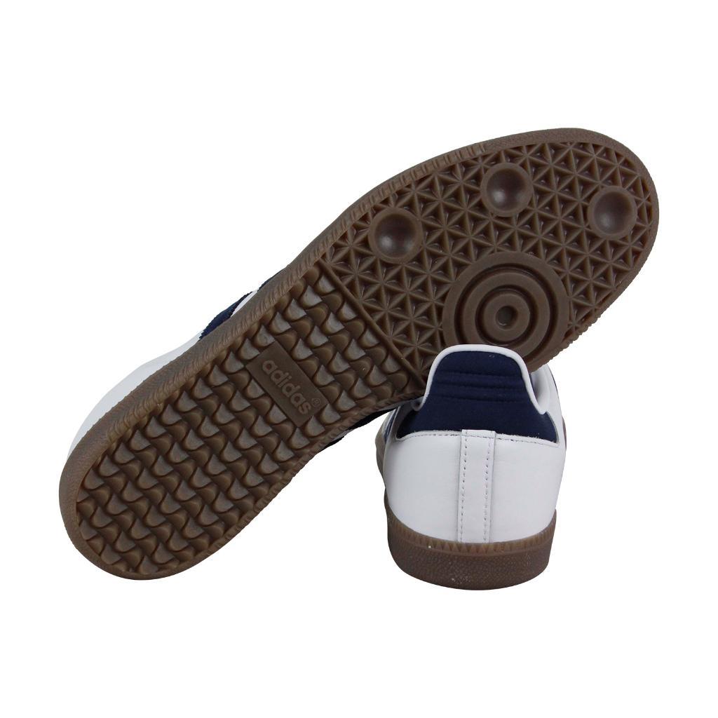 sports shoes 3a675 59fc7 Adidas Adidas Samba Og Mens White Leather Lace Up Sneakers Shoes    massgenie.com