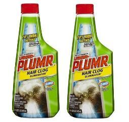 Liquid-Plumr Pro-Strength Hair Clog Remover 2 Bottle Pack