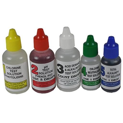Jed Pool Tools 00-330 4 Way Pool Test Kit Refill For No.486