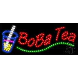 Sign Store L100-0920 Boba Tea Animated LED Sign, 27 x 11 x 1 In.