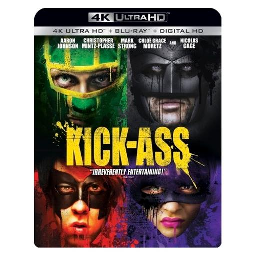 Kick ass (blu-ray/4kuhd/ultraviolet/digital hd)