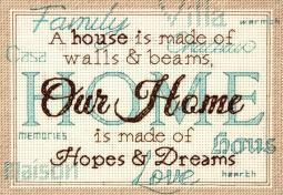 """Home Mini Counted Cross Stitch Kit 7""""X5"""" 14 Count"""