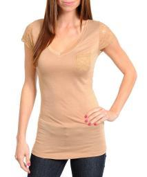 Juniors Camel Fashion Top New