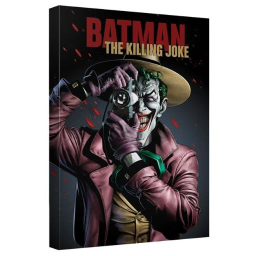 Trevco BM2710-ADV2-16x24 Batman the Killing Joke-Canvas Wall Art with Back Board, White - 16 x 24 in.