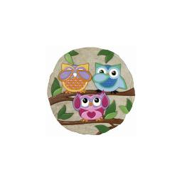 Spoontiques 13325 9 stepping stone  owls