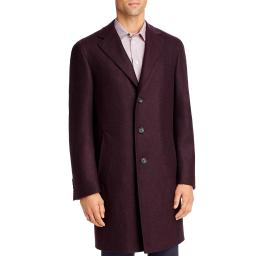 Canali Mens Wool Trench Top Coat