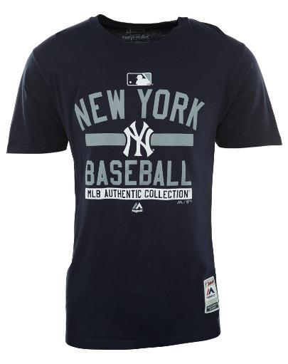 MAJESTIC Majestic A158-4507 - New York Yankees MLB Authentic Collection Short Sleeve Crewneck T-Shirt Mens Style: A158 4IIAJDAYUCZ4CPYL