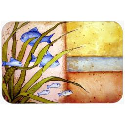 Carolines Treasures PJC1118LCB Message From The Sea Fishes Glass Cutting Board, Large PJC1118LCB