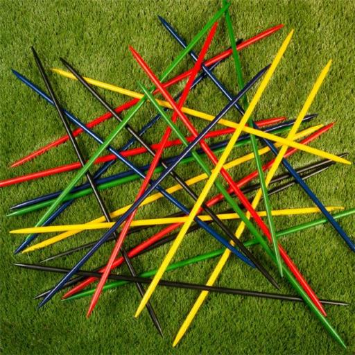 Hey Play M350030 Jumbo Pick Up Sticks Classic Wooden Game