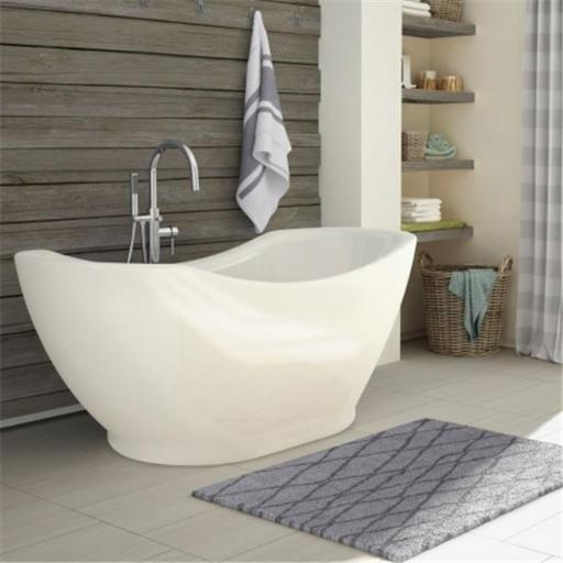 A And E Bath And Shower Salacia All-In-One Free-Standing Tub Combo - White