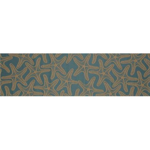 Art Carpet 29465 3 x 9 ft. Plymouth Collection Starfish Flat Woven Indoor & Outdoor Area Rug Runner, Blue