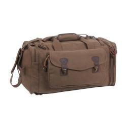 Rothco 8779 Canvas Extended Stay Travel Duffle Bag w/Leather Accents, Brown