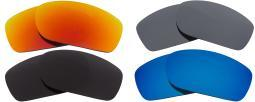 Best SEEK Polarized Replacement Lenses Oakley FIVES SQUARED Black Red Silver Blu 023-05030401-01