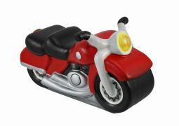 Ceramic Red Motorcycle Decorative Coin Bank