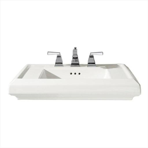 American Standard 0780.008.020 Town Square 6.5 in. Pedestal Sink Basin in White