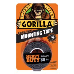Gorilla Double Sided 1 in. W x 60 in. L Mounting Tape Black - Case Of: 6;
