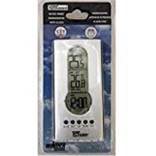 Minder Resch M6L-MRI122AG Wired Indoor Outdoor Thermometer with Clock