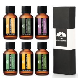 Two Elephants 6-Piece Therapeutic-Grade Aromatherapy Essential Oil Gift Set
