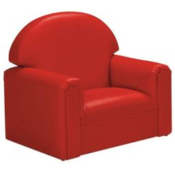 BNW FIVR200 22''W x 16''D x 19''H Vinyl Toddler Chair with Sturdy Hardwood Frame - Red