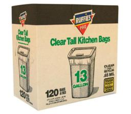 Ruffies Pro 1124915 Kitchen Trash Bag, 13 Gallon