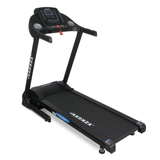 AKONZA Portable Running Electric Machine Fitness Cardio Foldable Treadmill w/ LCD Display Data