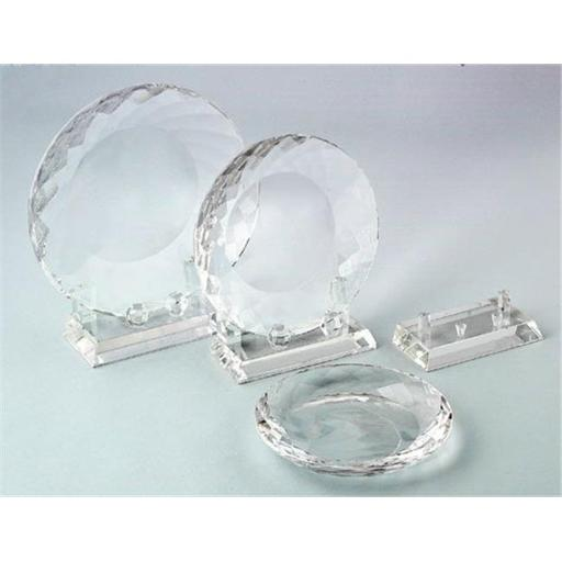 Creative Gifts International 004156 5.25 in. Optic Crystal Plate with Stand